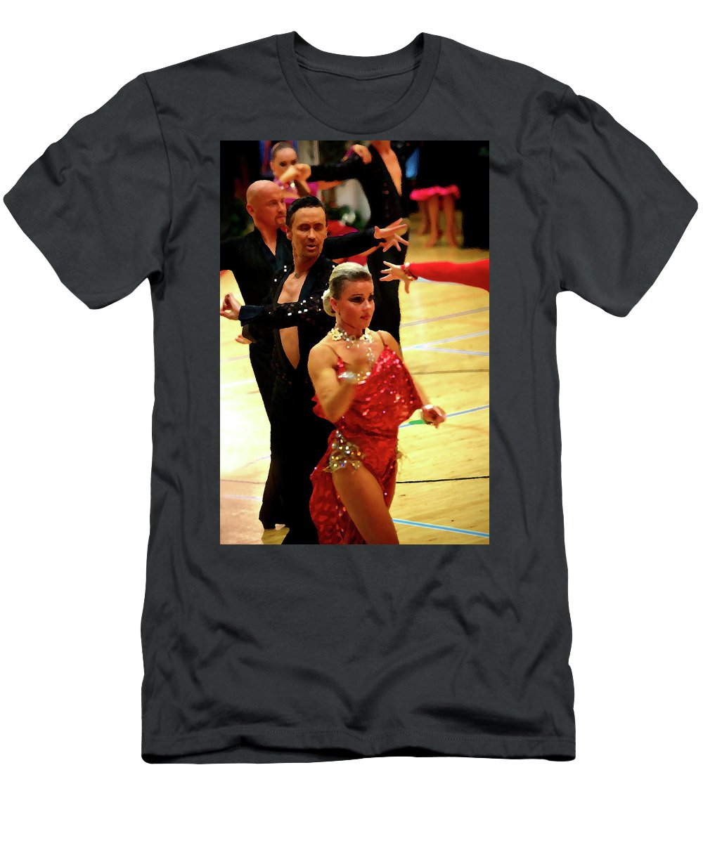 Lehtokukka Men's T-Shirt (Athletic Fit) featuring the photograph Dance Contest Nr 04 by Jouko Lehto