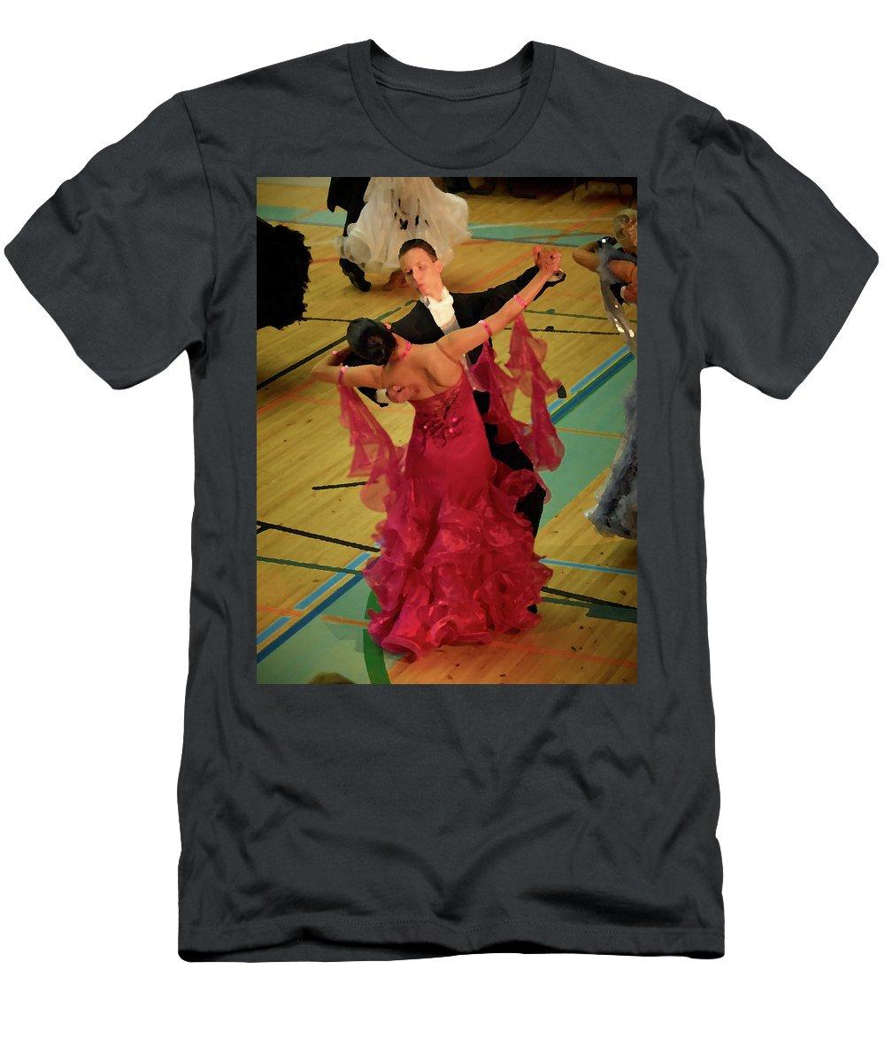 Lehtokukka Men's T-Shirt (Athletic Fit) featuring the photograph Dance Contest Nr 15 by Jouko Lehto