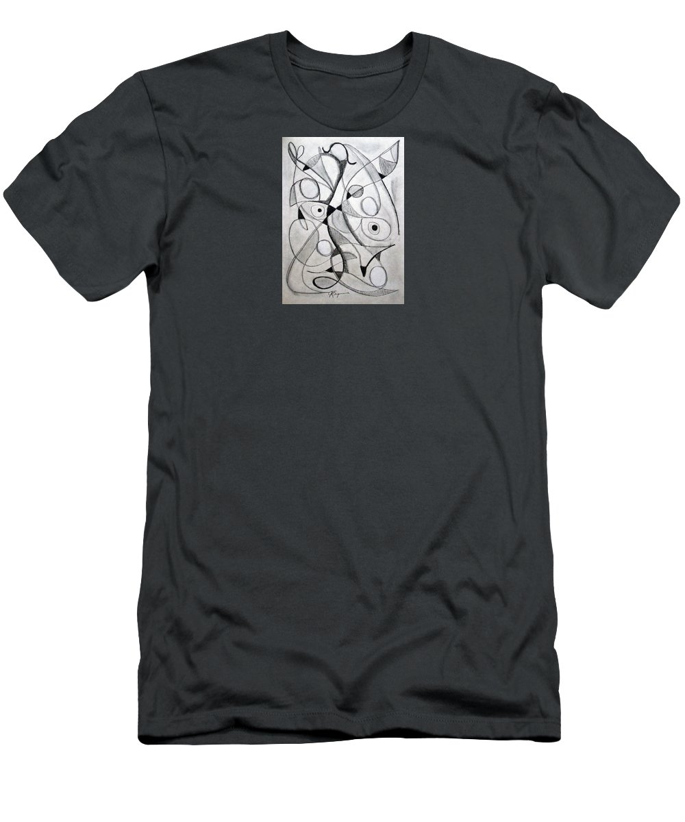 Pencil Men's T-Shirt (Athletic Fit) featuring the drawing Dancing For Joy by J R Seymour