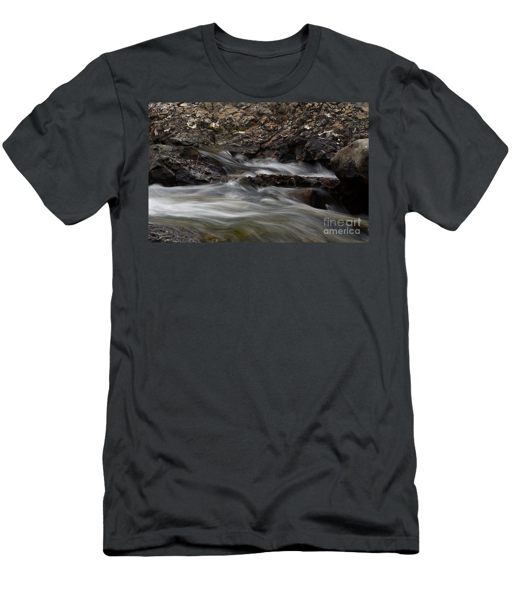 Water Men's T-Shirt (Athletic Fit) featuring the photograph Dancing Waters 5 by Bob Christopher