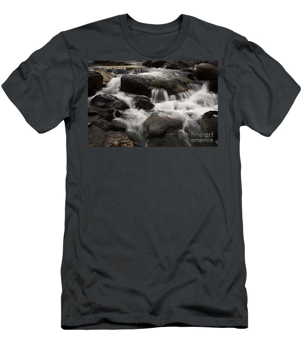 Water Men's T-Shirt (Athletic Fit) featuring the photograph Dancing Waters 7 by Bob Christopher