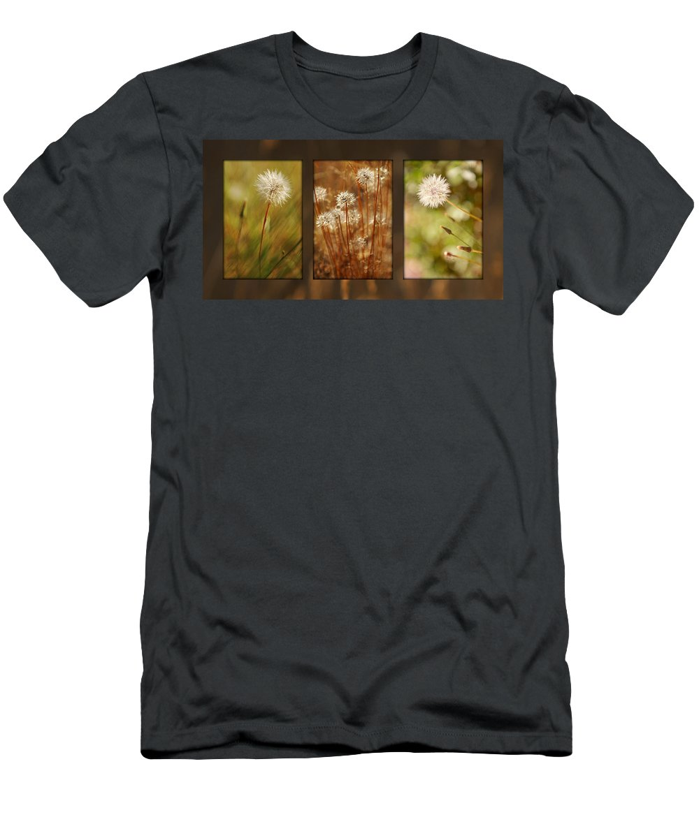 Dandelions Men's T-Shirt (Athletic Fit) featuring the photograph Dandelion Series by Jill Reger