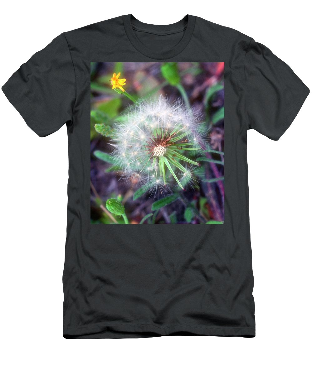 Flower Men's T-Shirt (Athletic Fit) featuring the photograph Dandelion by Stephen Anderson