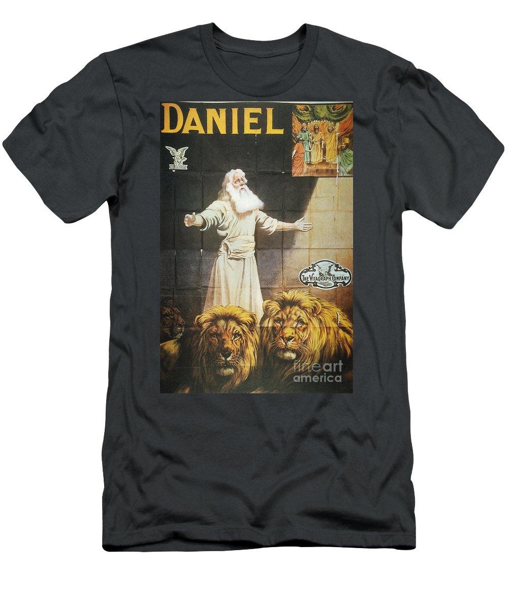 1913 Men's T-Shirt (Athletic Fit) featuring the photograph Daniel: Film, 1913 by Granger