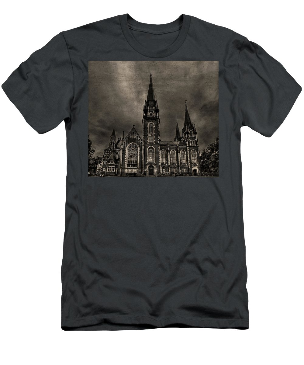 Dark Men's T-Shirt (Athletic Fit) featuring the photograph Dark Kingdom by Evelina Kremsdorf