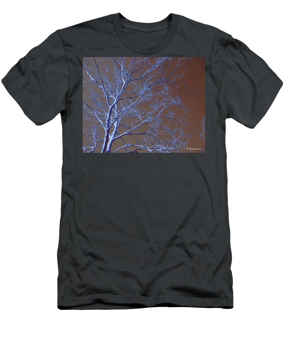Tree Men's T-Shirt (Athletic Fit) featuring the photograph Dark Woods by Betty Northcutt