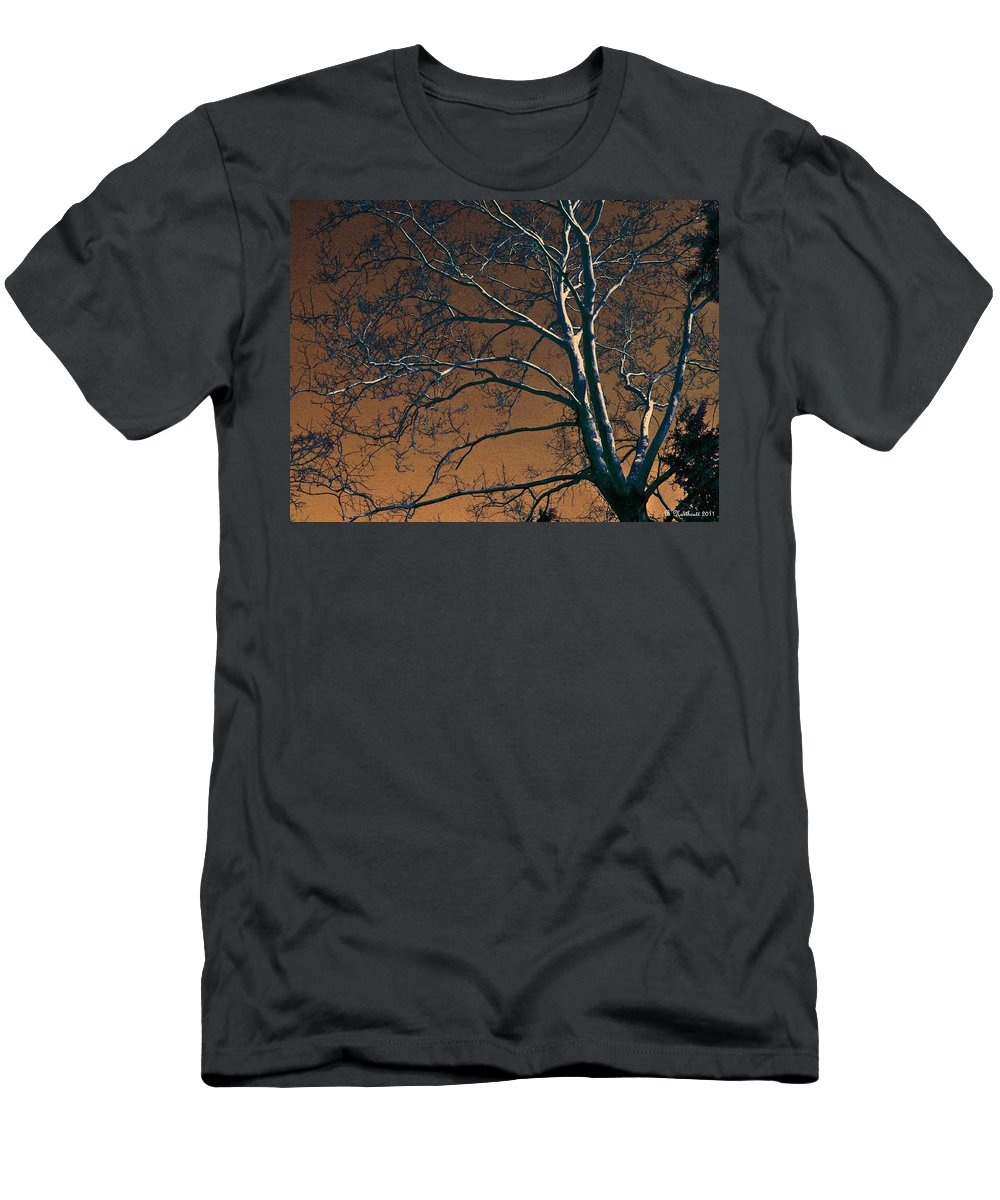 Tree Men's T-Shirt (Athletic Fit) featuring the photograph Dark Woods II by Betty Northcutt