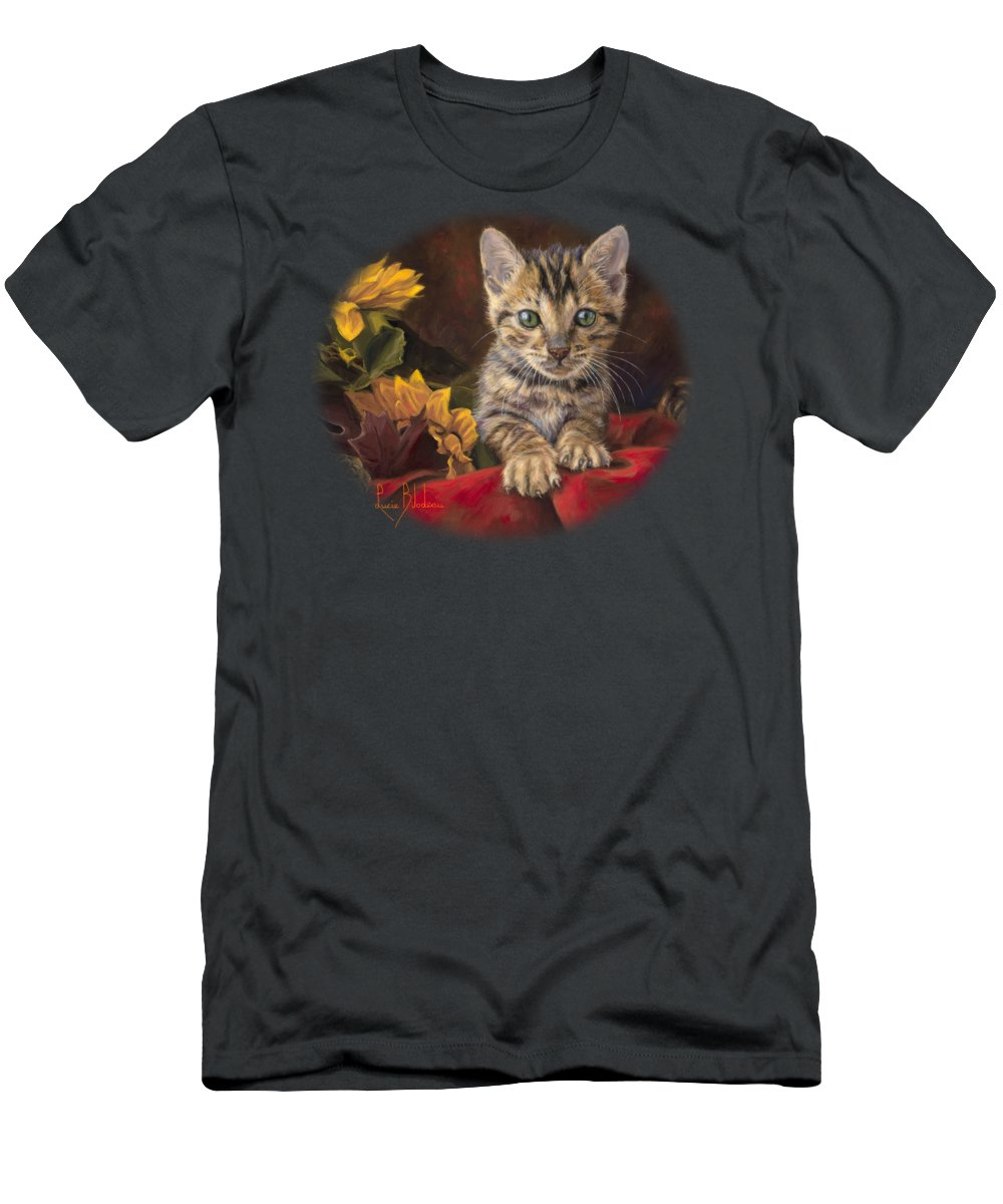 Cat T-Shirt featuring the painting Darling by Lucie Bilodeau