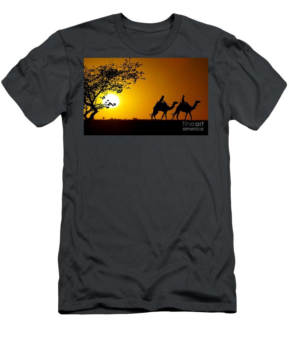 Darwin Men's T-Shirt (Athletic Fit) featuring the photograph Darwin 2 by Ben Yassa
