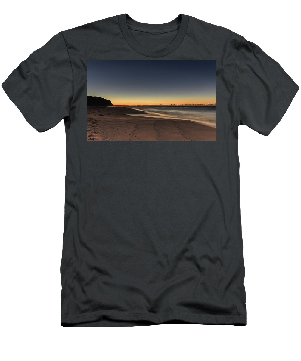 Australia Men's T-Shirt (Athletic Fit) featuring the photograph Dawn And The Sea by Merrillie Redden