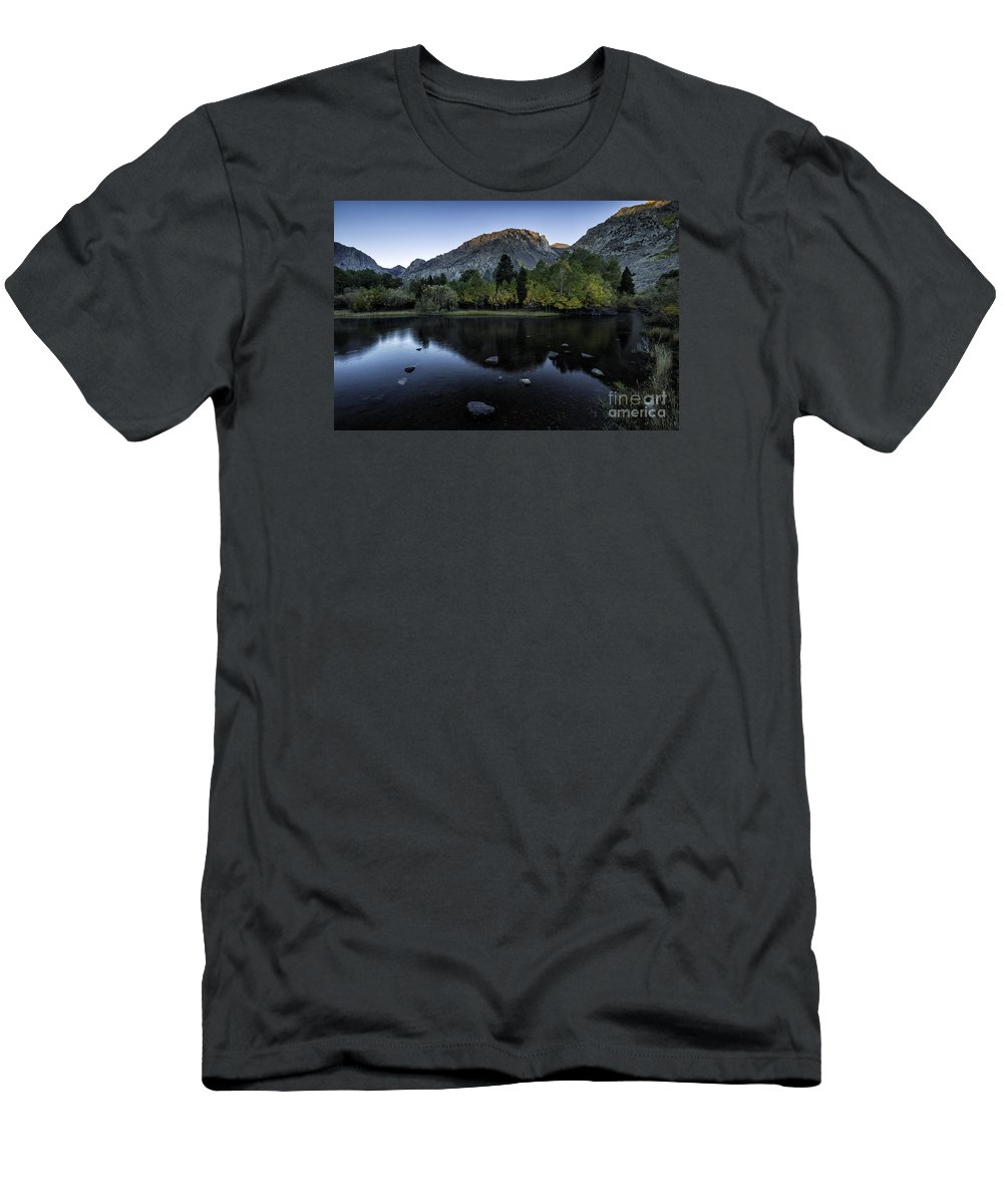 Rush Creek Men's T-Shirt (Athletic Fit) featuring the photograph Dawn At Rush Creek 2 by Timothy Hacker