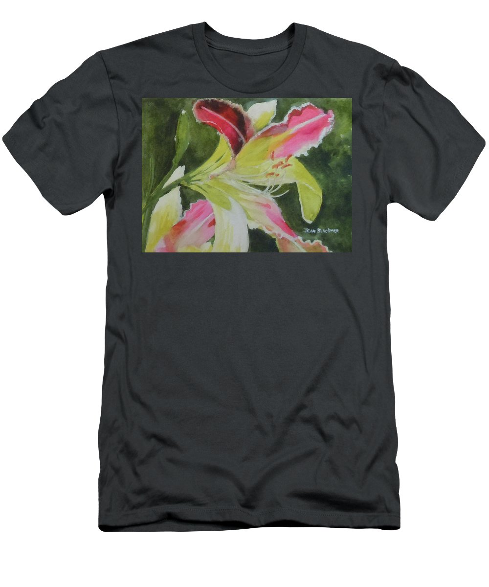 Daylily T-Shirt featuring the painting Daylily Study 1 by Jean Blackmer