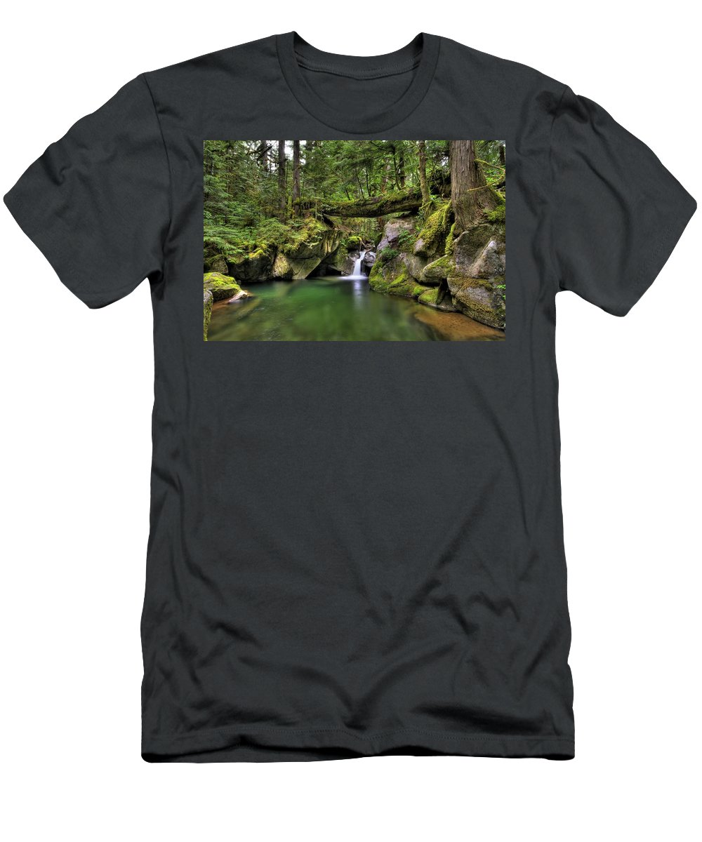 Hdr Men's T-Shirt (Athletic Fit) featuring the photograph Deception Creek by Brad Granger