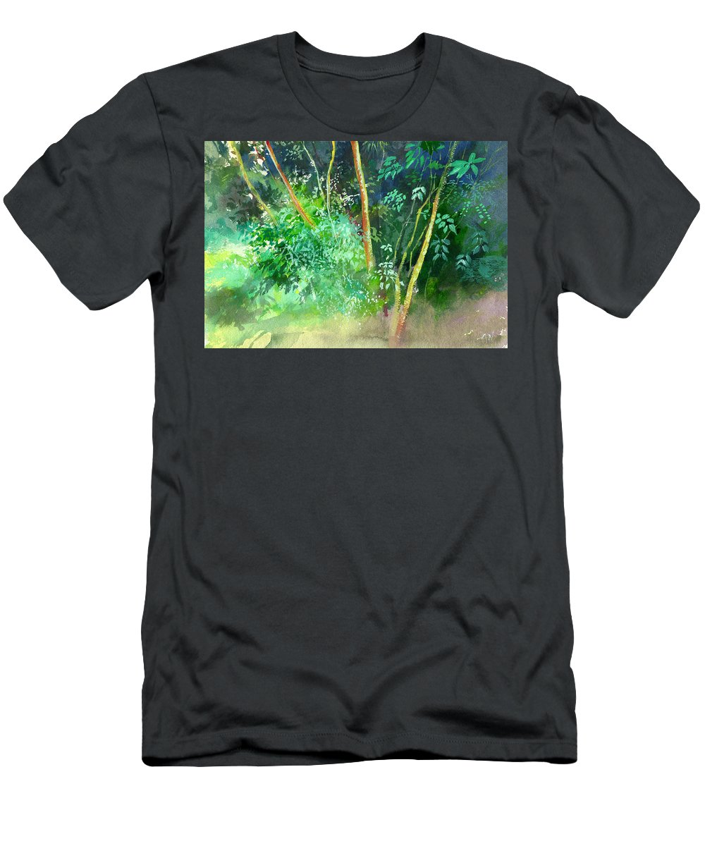 Water Color Men's T-Shirt (Athletic Fit) featuring the painting Deep by Anil Nene