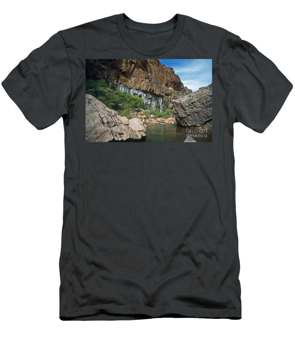 Landscape Men's T-Shirt (Athletic Fit) featuring the photograph Deep Water by Kathy McClure
