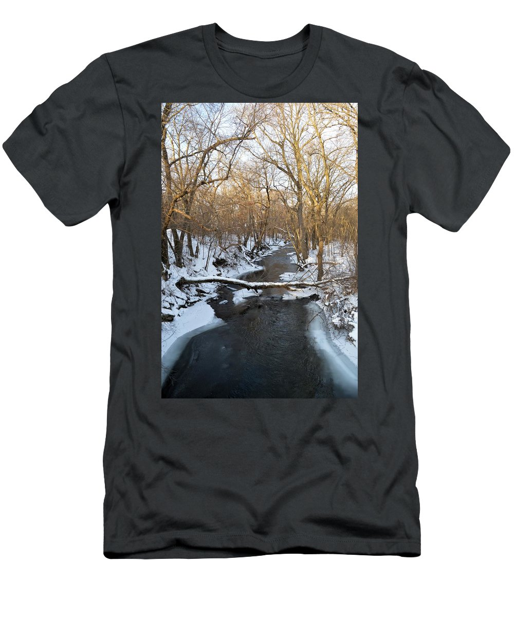 Deer Men's T-Shirt (Athletic Fit) featuring the photograph Deer Creek by Bonfire Photography