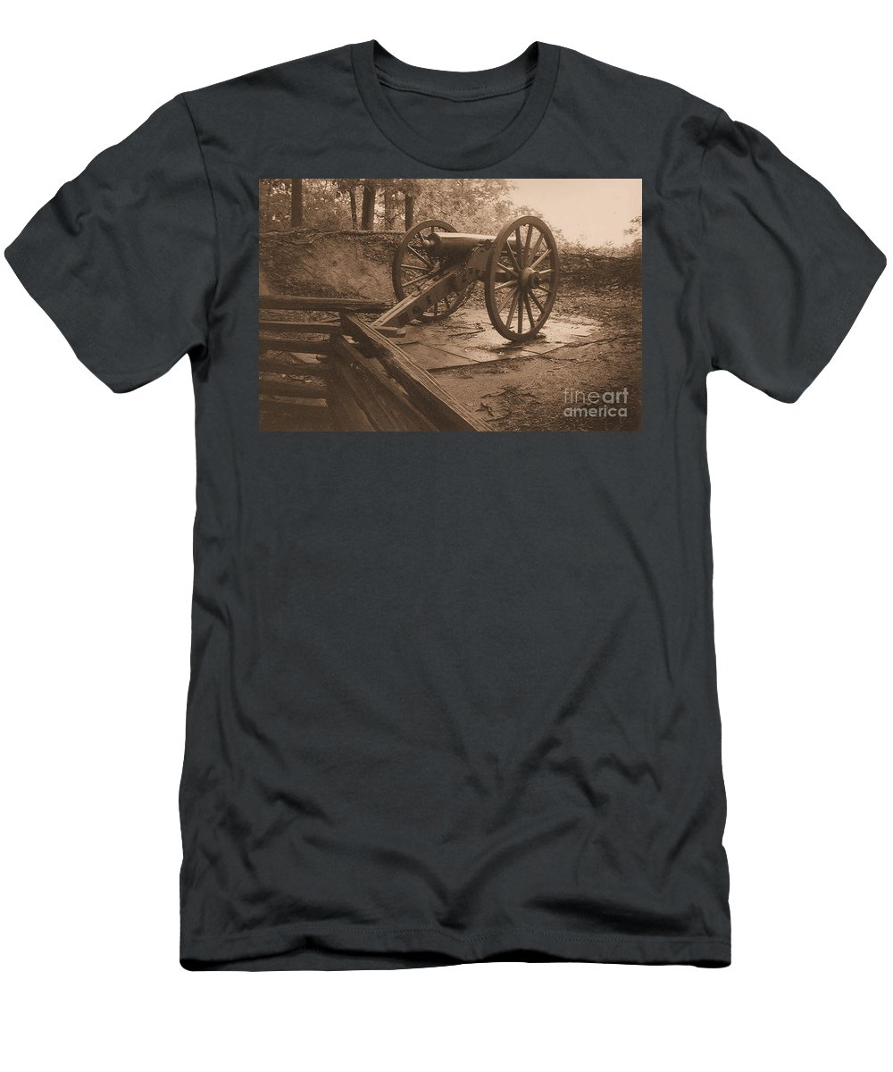 Kenshaw Mountain Men's T-Shirt (Athletic Fit) featuring the photograph Defend The Mountain by Tommy Anderson