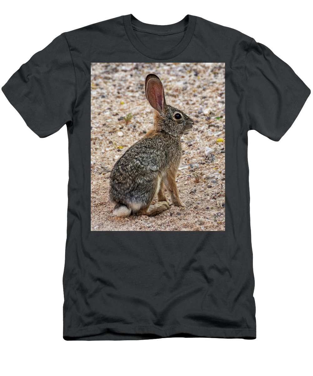 Desert Men's T-Shirt (Athletic Fit) featuring the photograph Desert Cottontail 1822 by Mark Myhaver