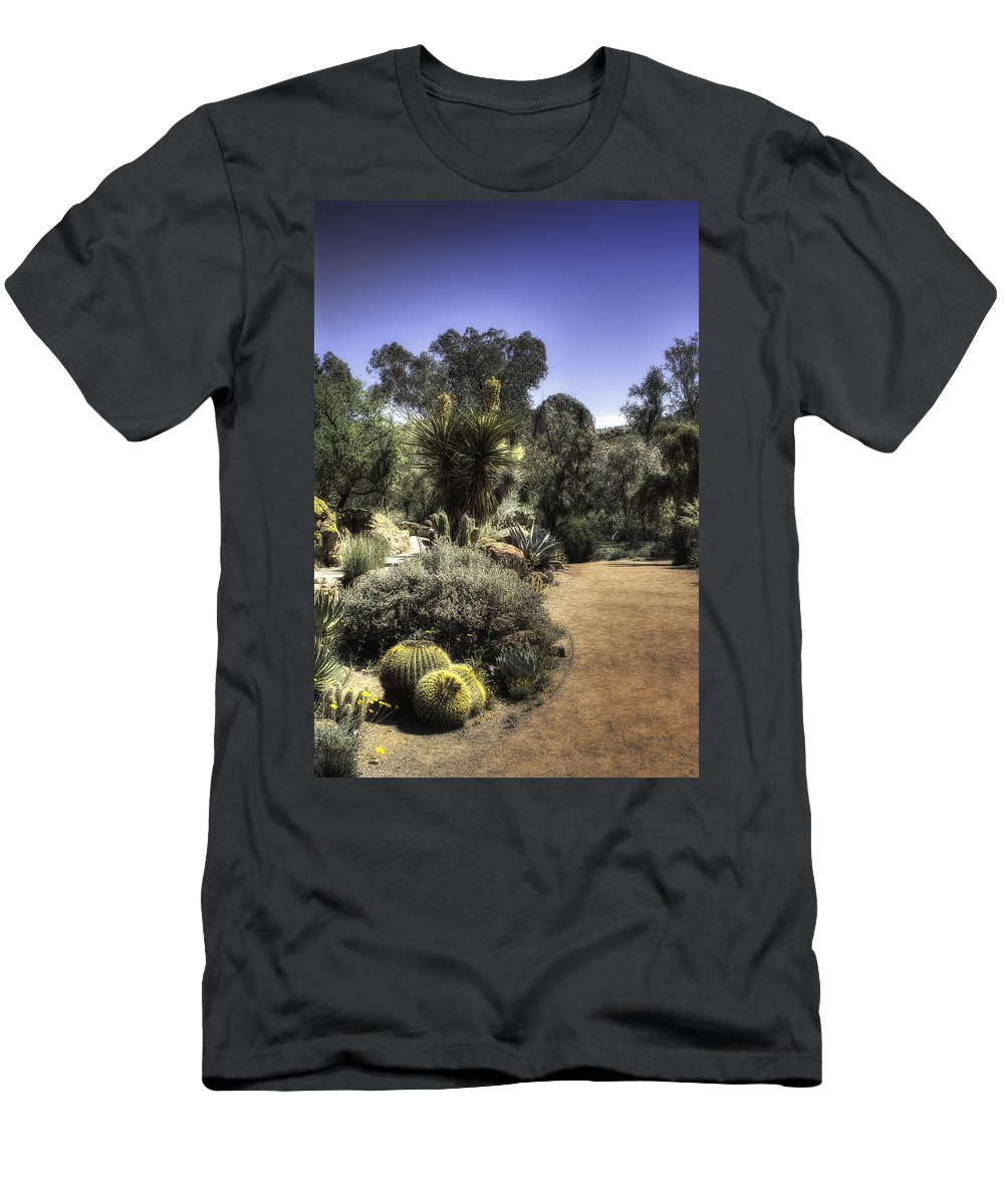 America Men's T-Shirt (Athletic Fit) featuring the photograph Desert Walkway by Lynn Geoffroy