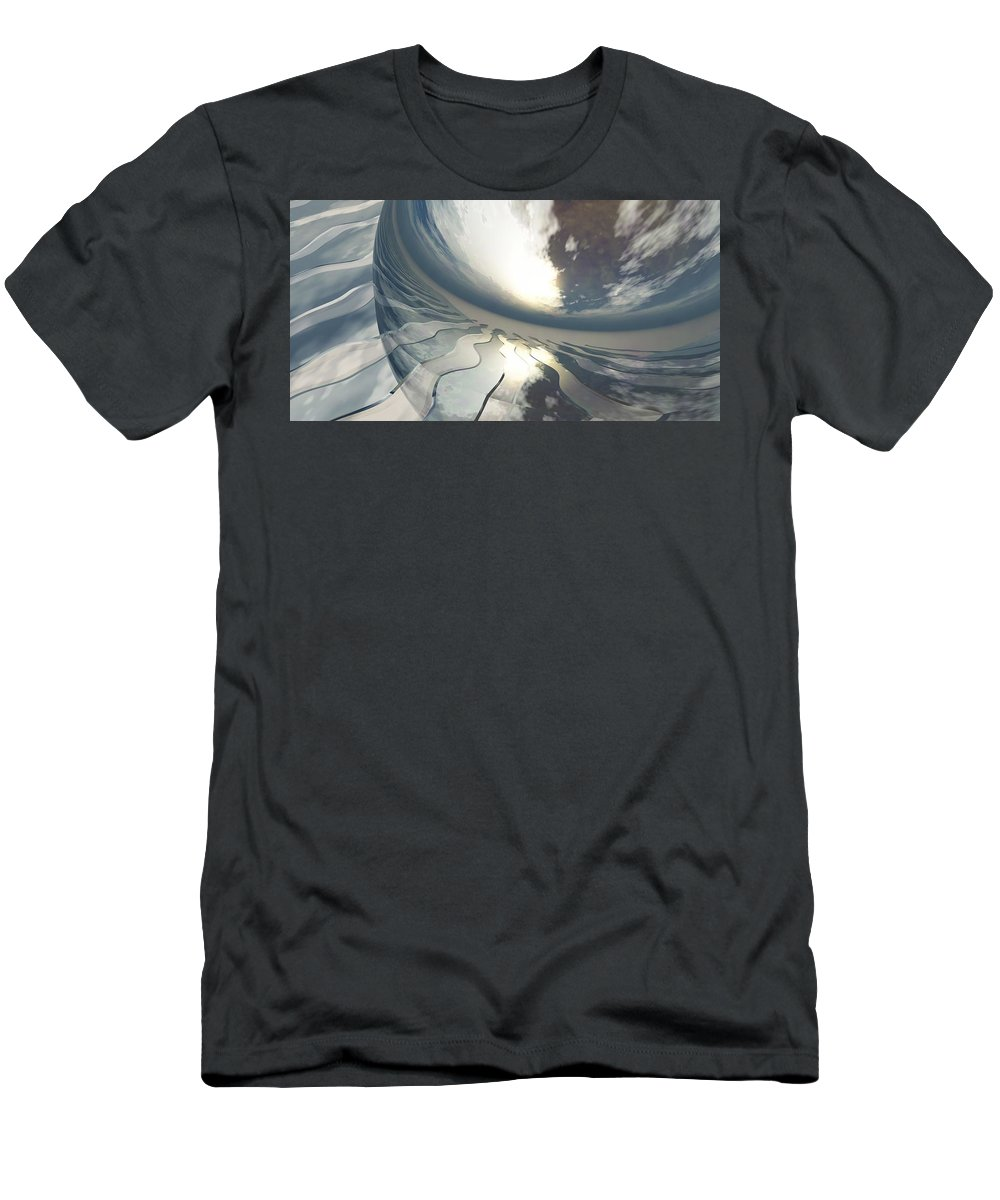 Fantasy Men's T-Shirt (Athletic Fit) featuring the digital art Deviating World by Richard Rizzo