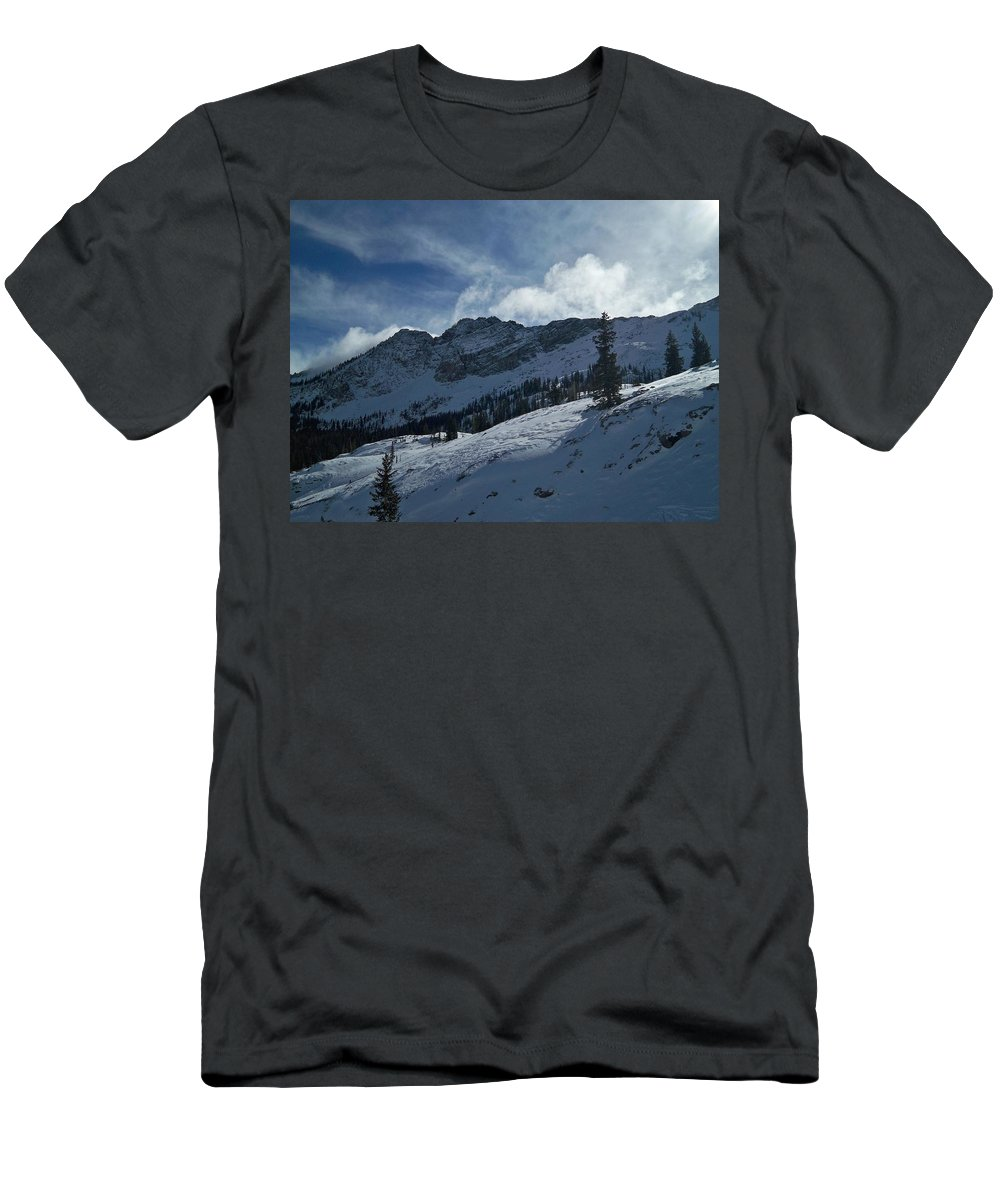 Ski Men's T-Shirt (Athletic Fit) featuring the photograph Devils Castle Morning Light by Michael Cuozzo