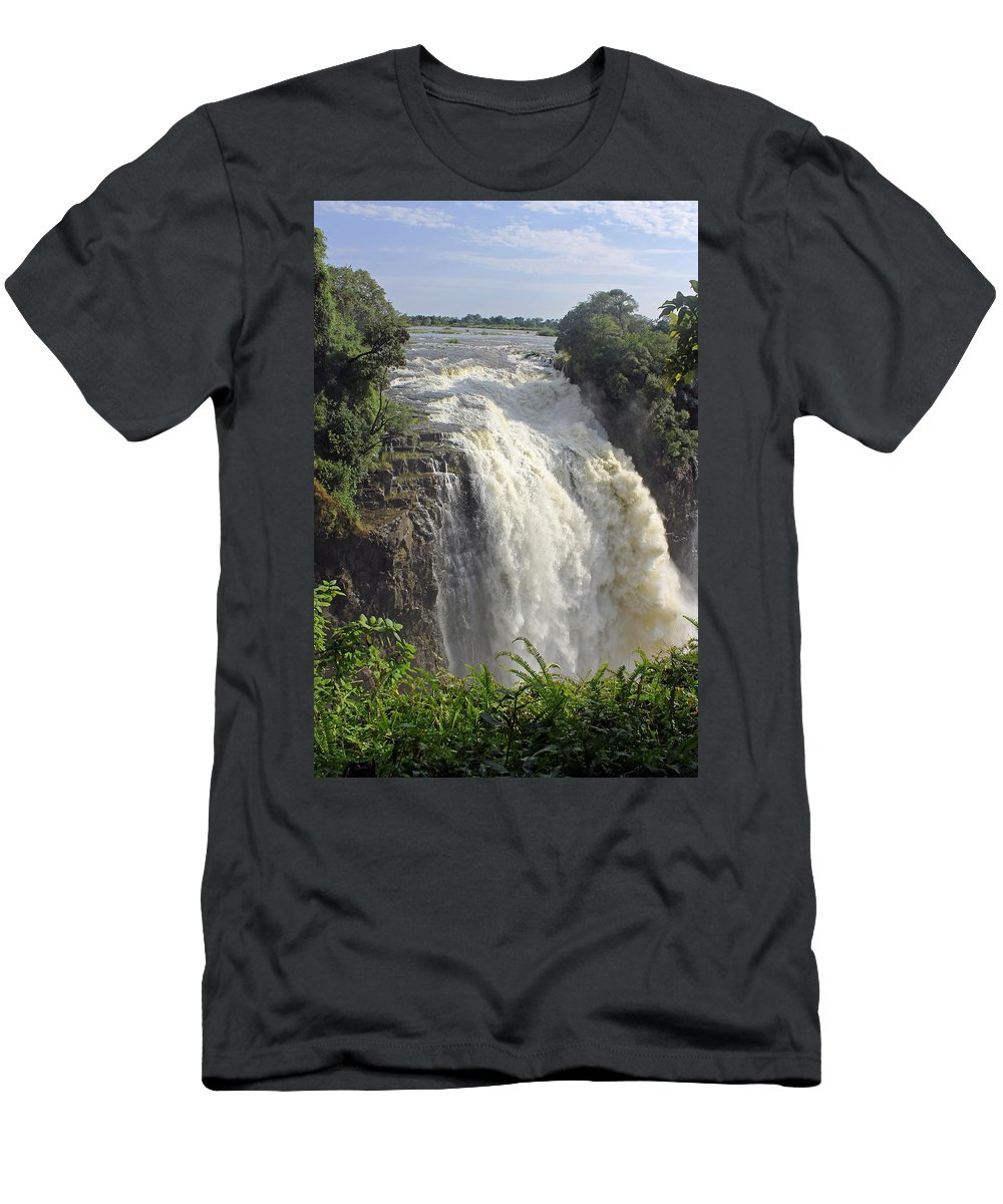 Devil's Cataract Men's T-Shirt (Athletic Fit) featuring the photograph Devil's Cataract by Tony Murtagh