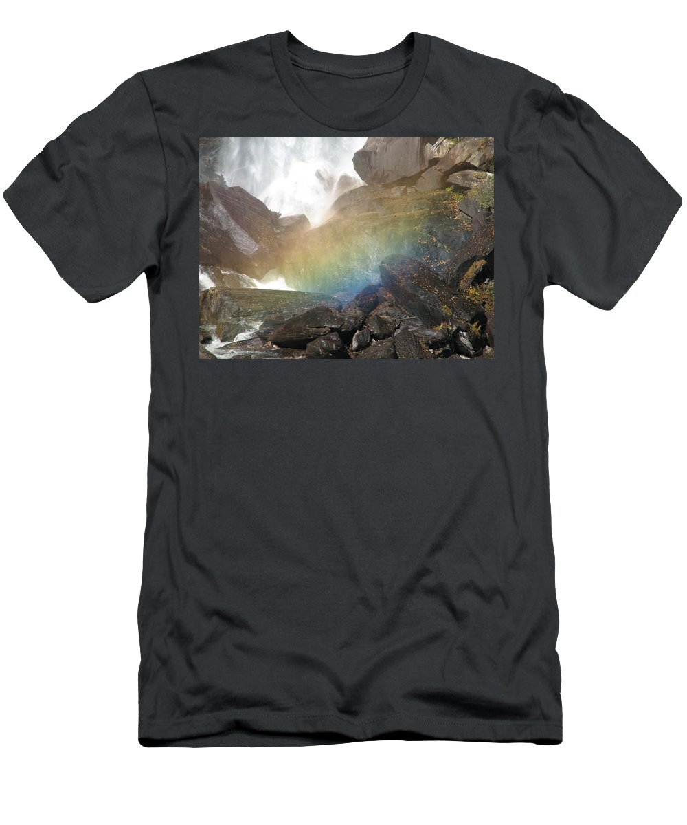 Devil's Fork Men's T-Shirt (Athletic Fit) featuring the photograph Devil's Rainbow by Kelly Mezzapelle