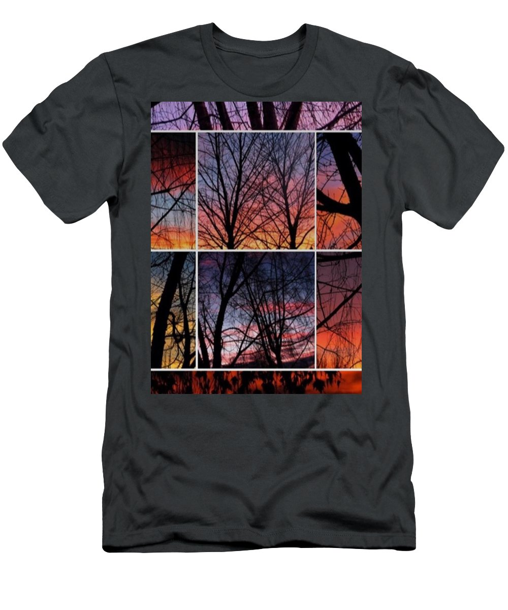 Men's T-Shirt (Athletic Fit) featuring the photograph Digital Winter Trees by Chris Dunn