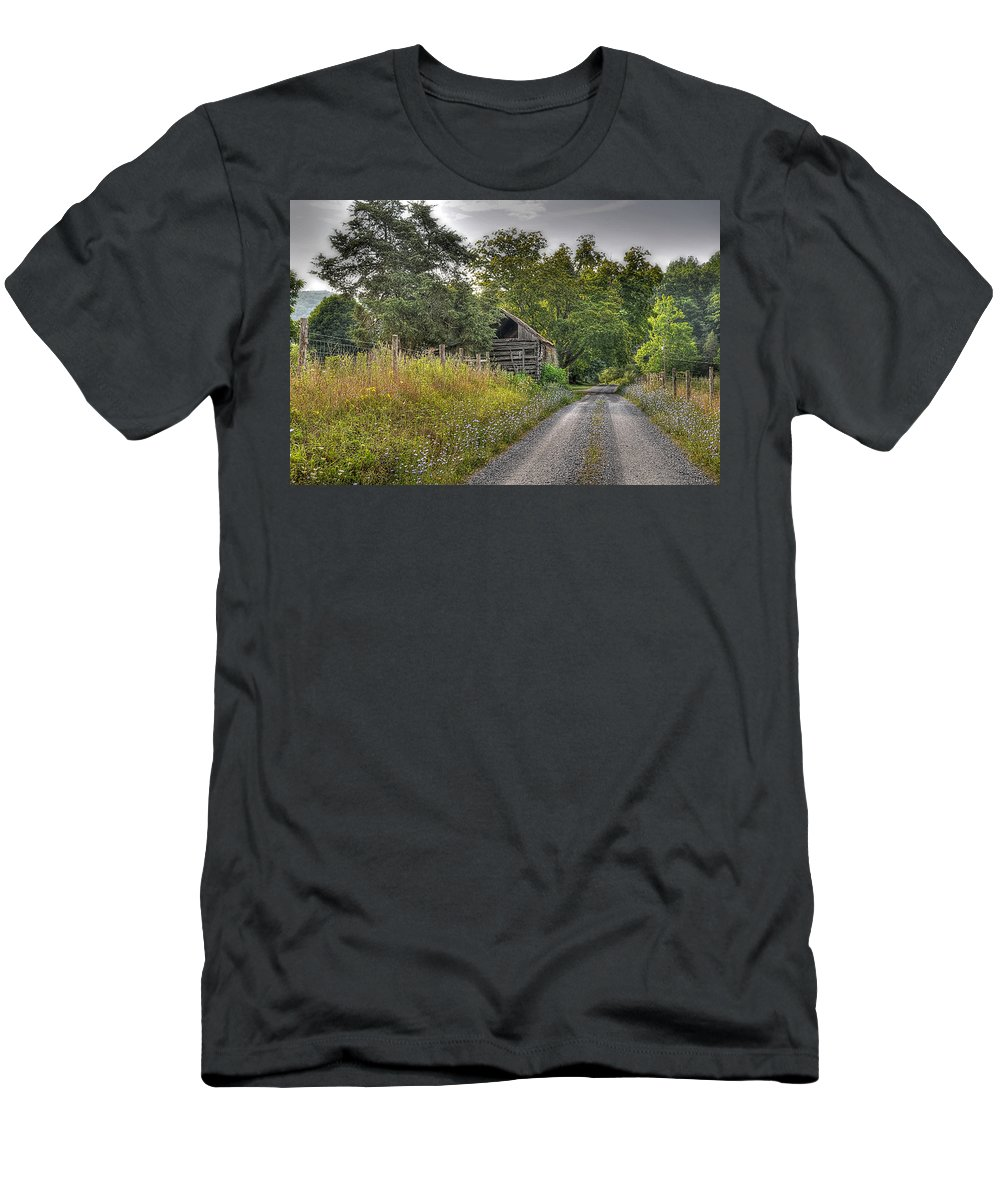 Landscape Men's T-Shirt (Athletic Fit) featuring the photograph Dirt Roads by Todd Hostetter