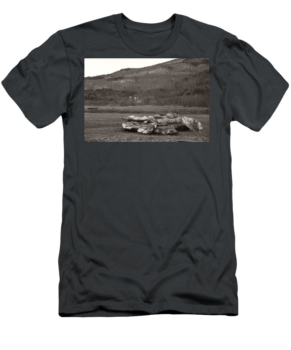 Men's T-Shirt (Athletic Fit) featuring the photograph Dirty Bergs by Heather Kirk