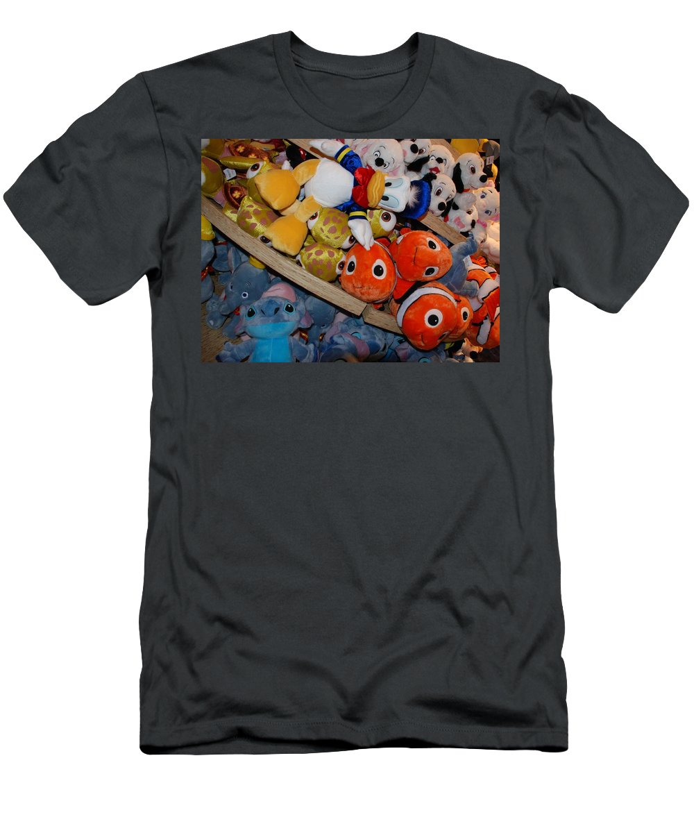 Colors Men's T-Shirt (Athletic Fit) featuring the photograph Disney Animals by Rob Hans