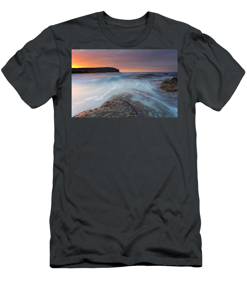 Dawn Men's T-Shirt (Athletic Fit) featuring the photograph Divided Tides by Mike Dawson