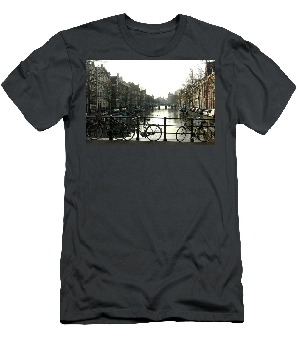 Landscape Amsterdam Red Light District Men's T-Shirt (Athletic Fit) featuring the photograph Dnrh1103 by Henry Butz