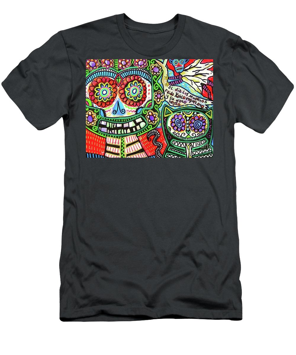Men's T-Shirt (Athletic Fit) featuring the mixed media Dod Art 123cd by Sandra Silberzweig