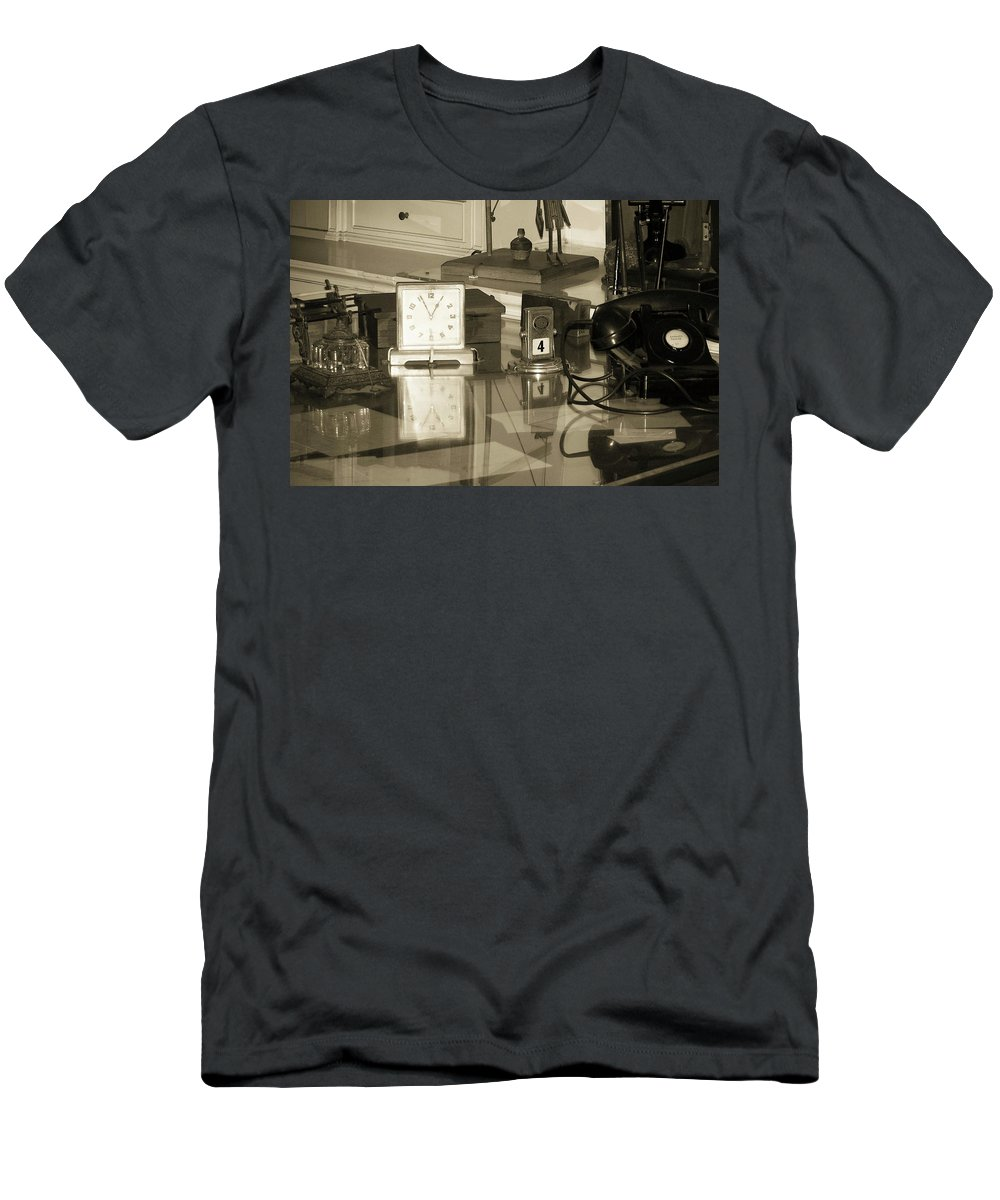 Phone Men's T-Shirt (Athletic Fit) featuring the photograph Does Anybody Really Know What Time It Is by Trish Tritz