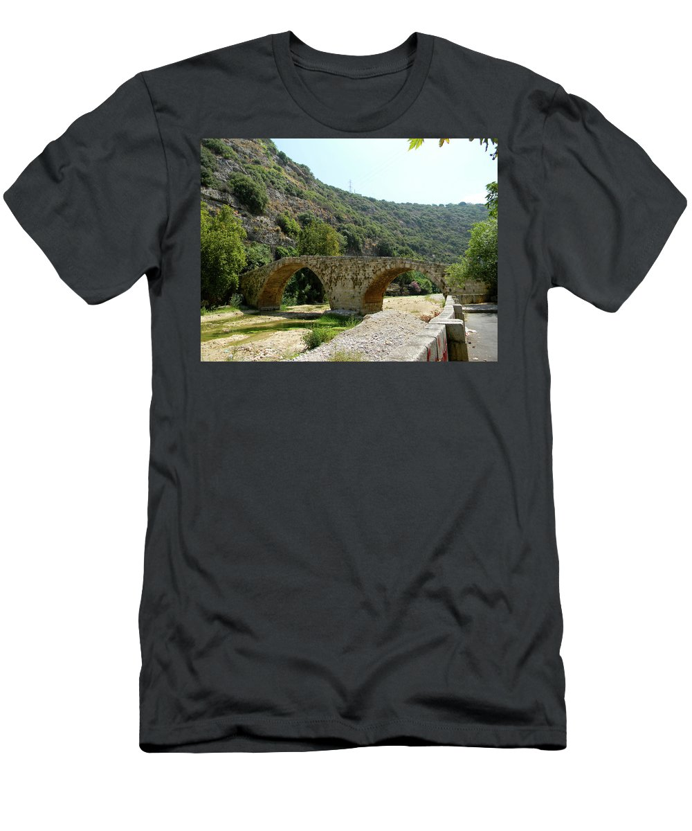 Lebanon. Dog River Men's T-Shirt (Athletic Fit) featuring the photograph Dog River by Marwan George Khoury