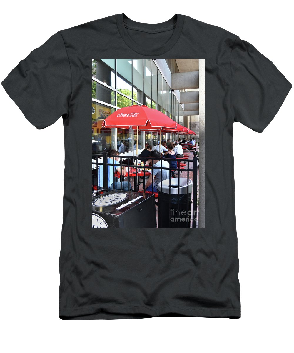 Scenic Tours Men's T-Shirt (Athletic Fit) featuring the photograph Doing Lunch by Skip Willits