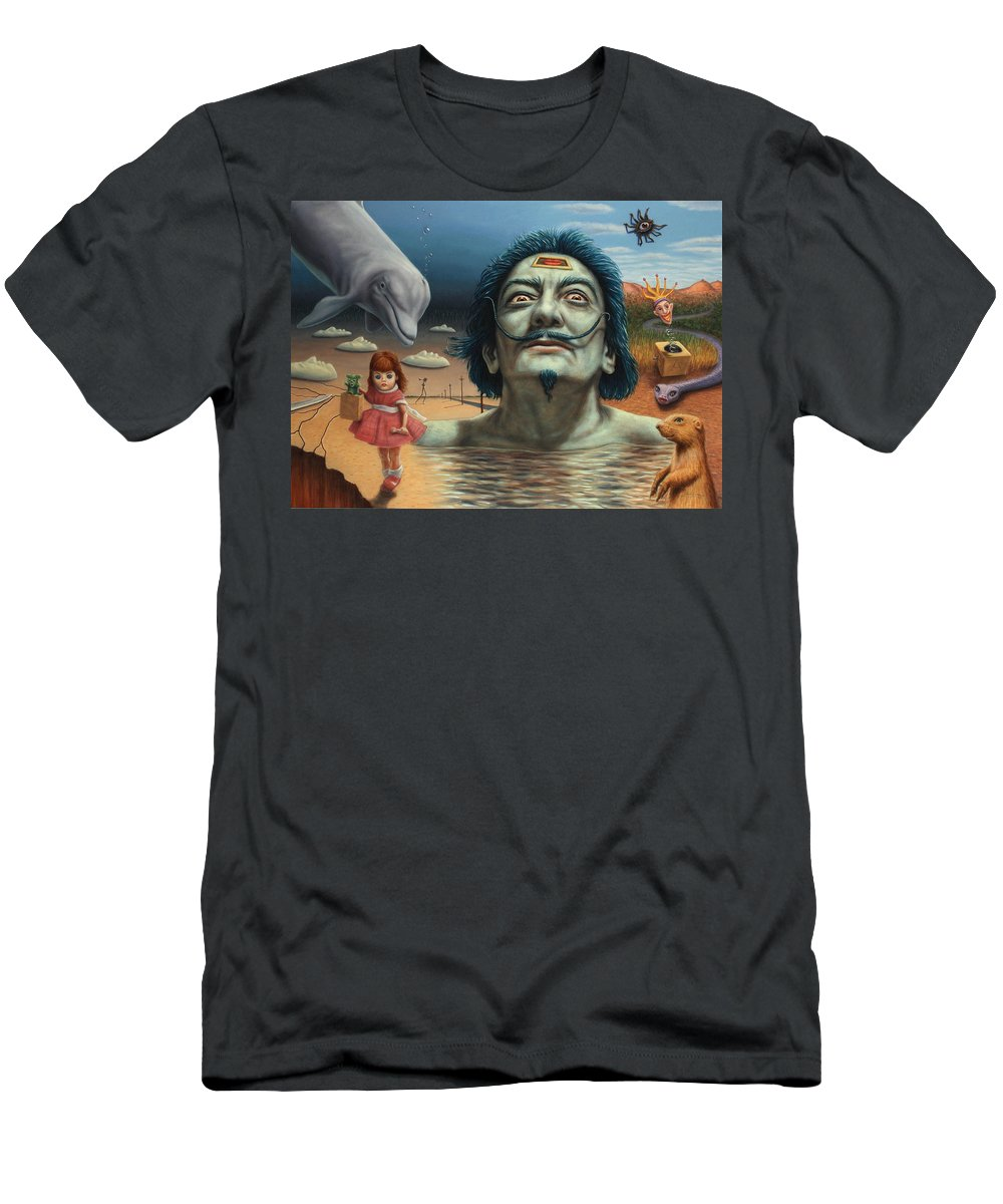 Dali Men's T-Shirt (Athletic Fit) featuring the painting Dolly In Dali-land by James W Johnson
