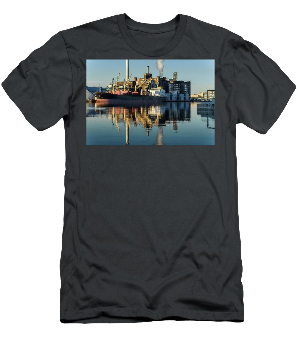2017 Men's T-Shirt (Athletic Fit) featuring the photograph Domimos Sugar Sunrise by Jim Archer