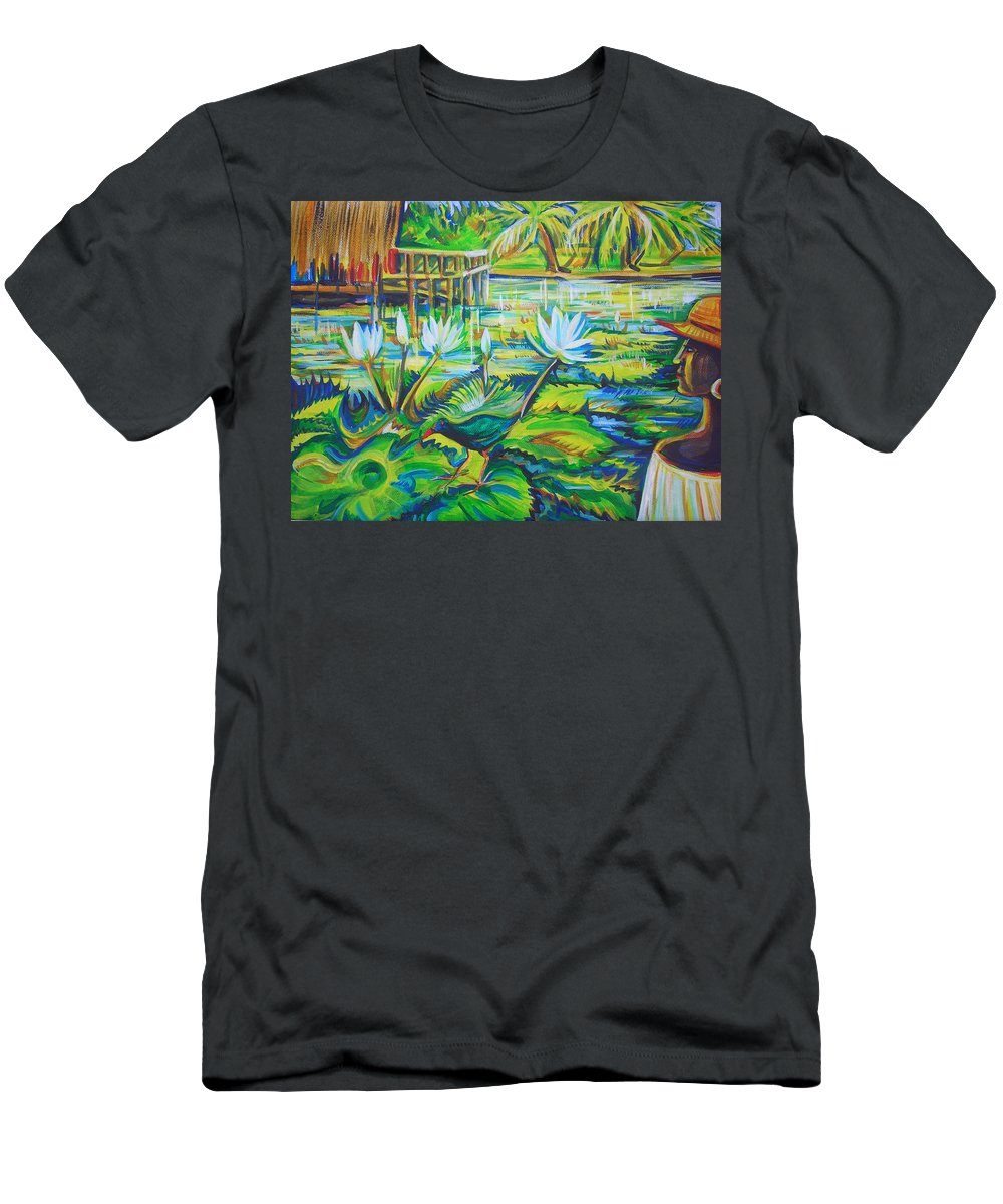 Tropics Men's T-Shirt (Athletic Fit) featuring the painting Dominicana by Anna Duyunova