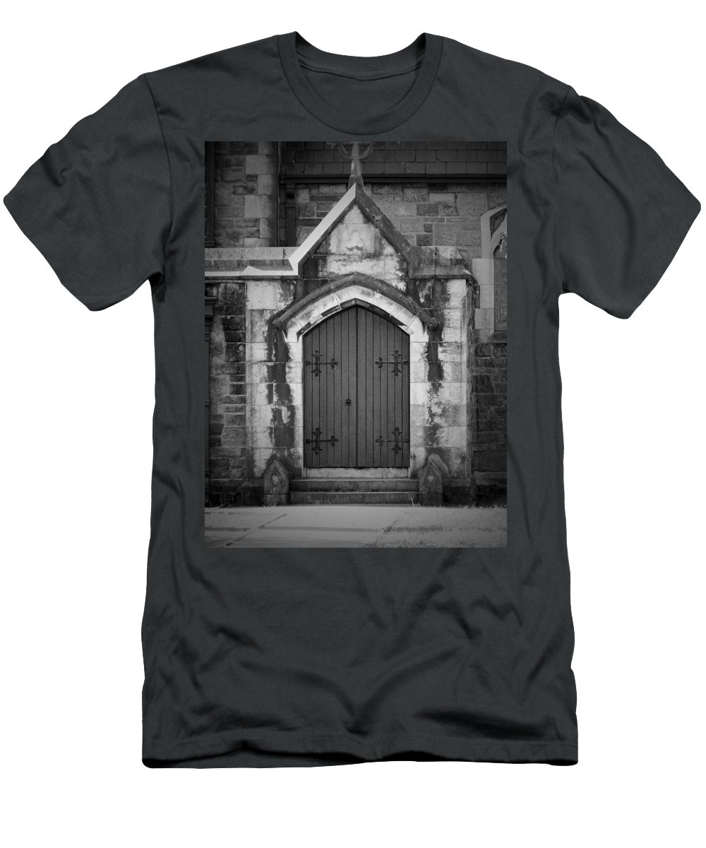 Irish Men's T-Shirt (Athletic Fit) featuring the photograph Door At St. Johns In Tralee Ireland by Teresa Mucha
