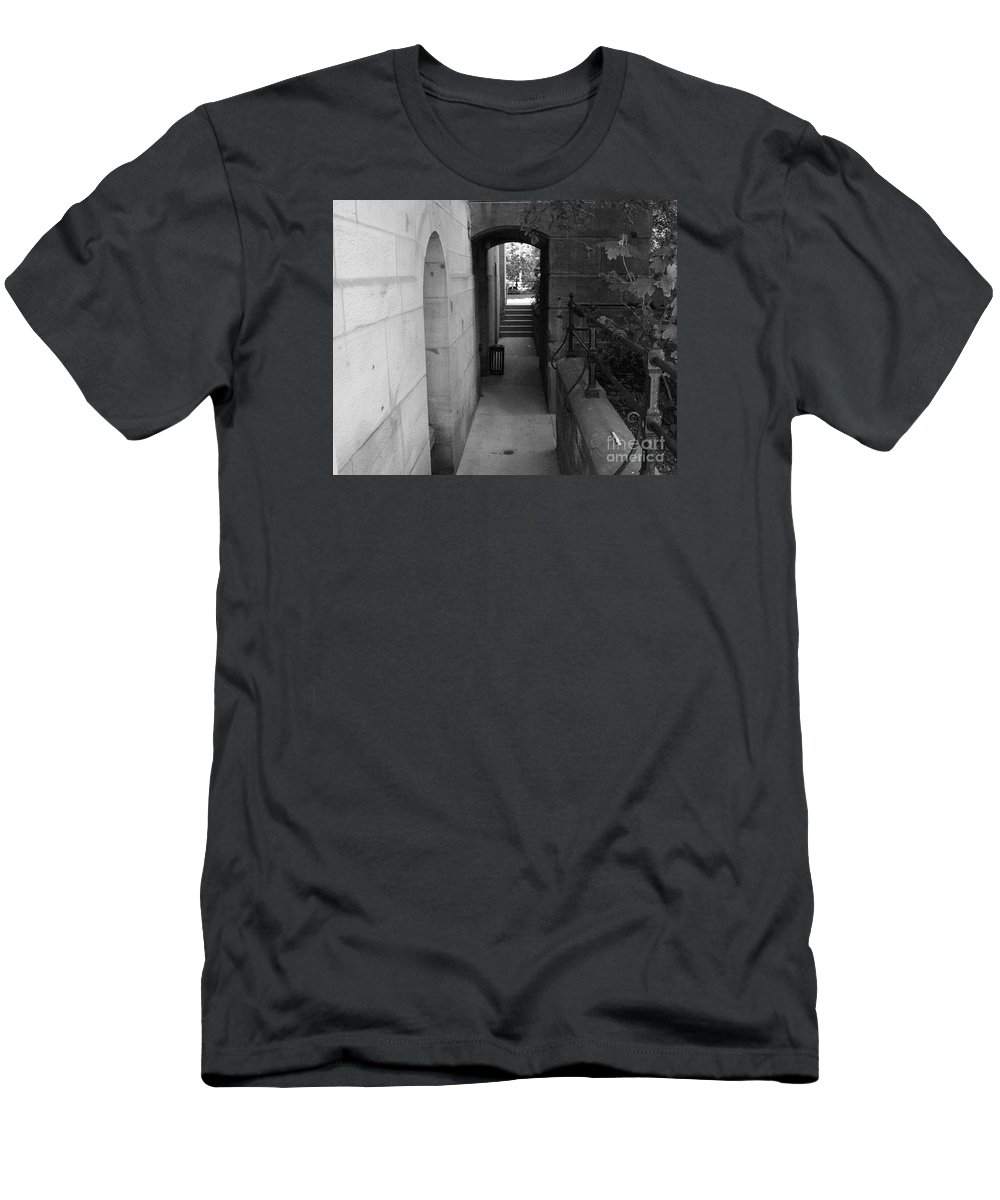 Landscape Men's T-Shirt (Athletic Fit) featuring the photograph Doorway One by Dawn Downour