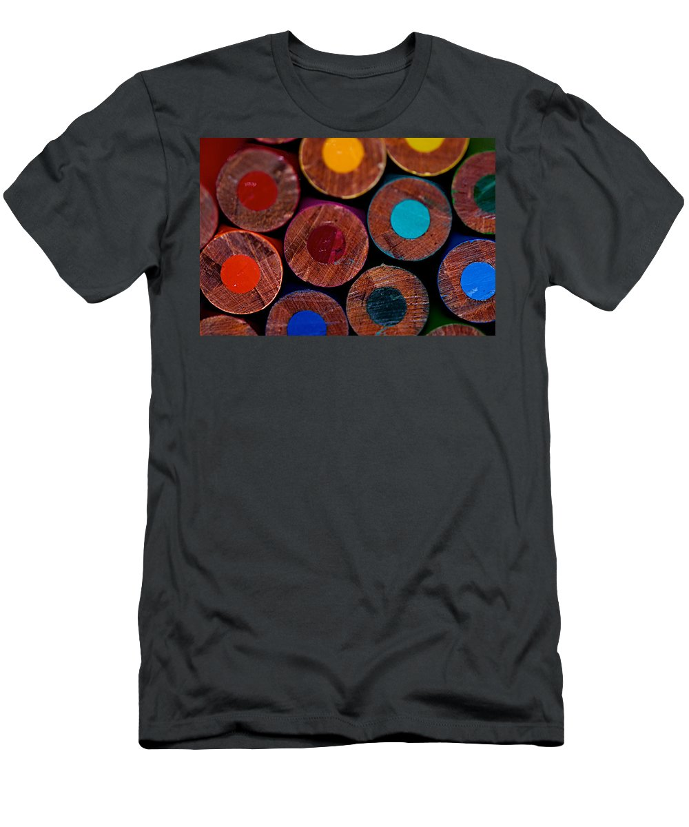 Pencil Men's T-Shirt (Athletic Fit) featuring the photograph Dotty by Lisa Knechtel
