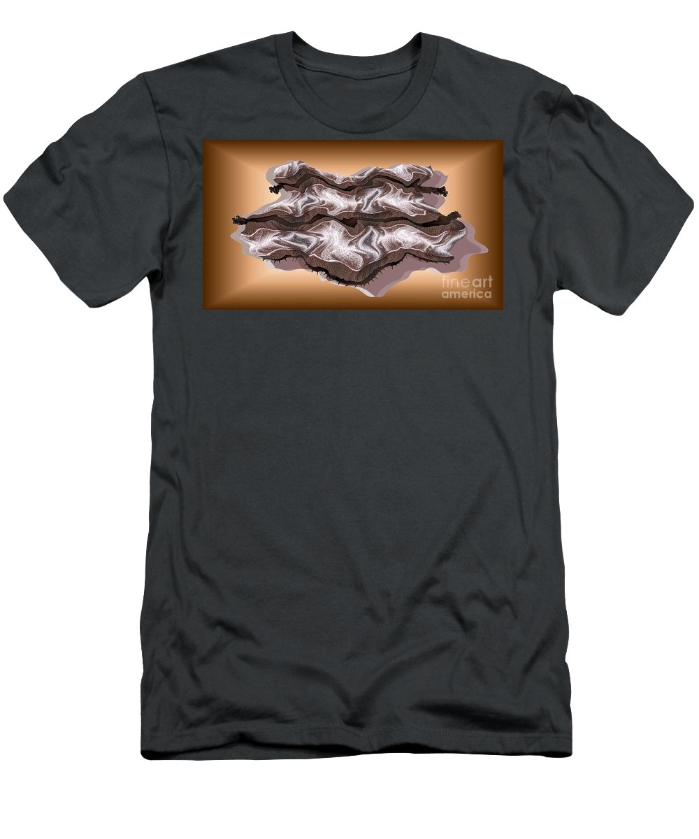 Abstract Men's T-Shirt (Athletic Fit) featuring the digital art Doubt Its Redoubt by Ron Bissett