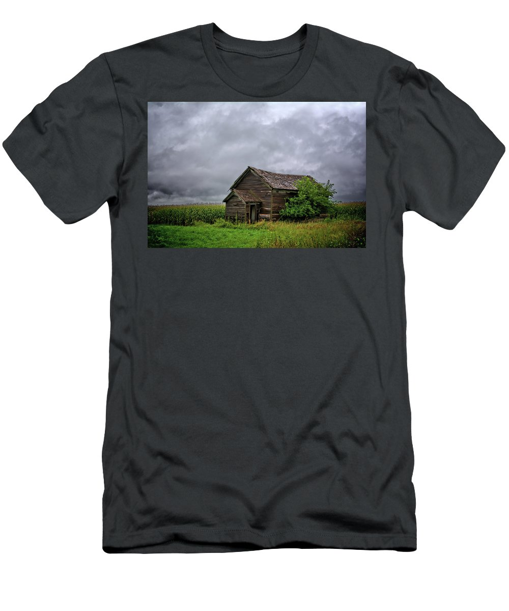 Storm Men's T-Shirt (Athletic Fit) featuring the photograph Dougherty Country 2 by Bonfire Photography
