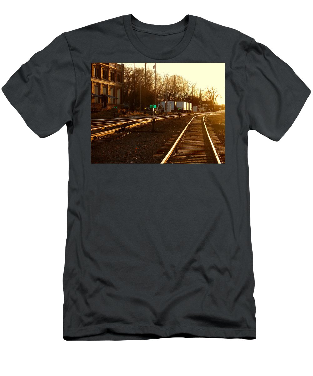 Landscape T-Shirt featuring the photograph Down the Right Track by Steve Karol