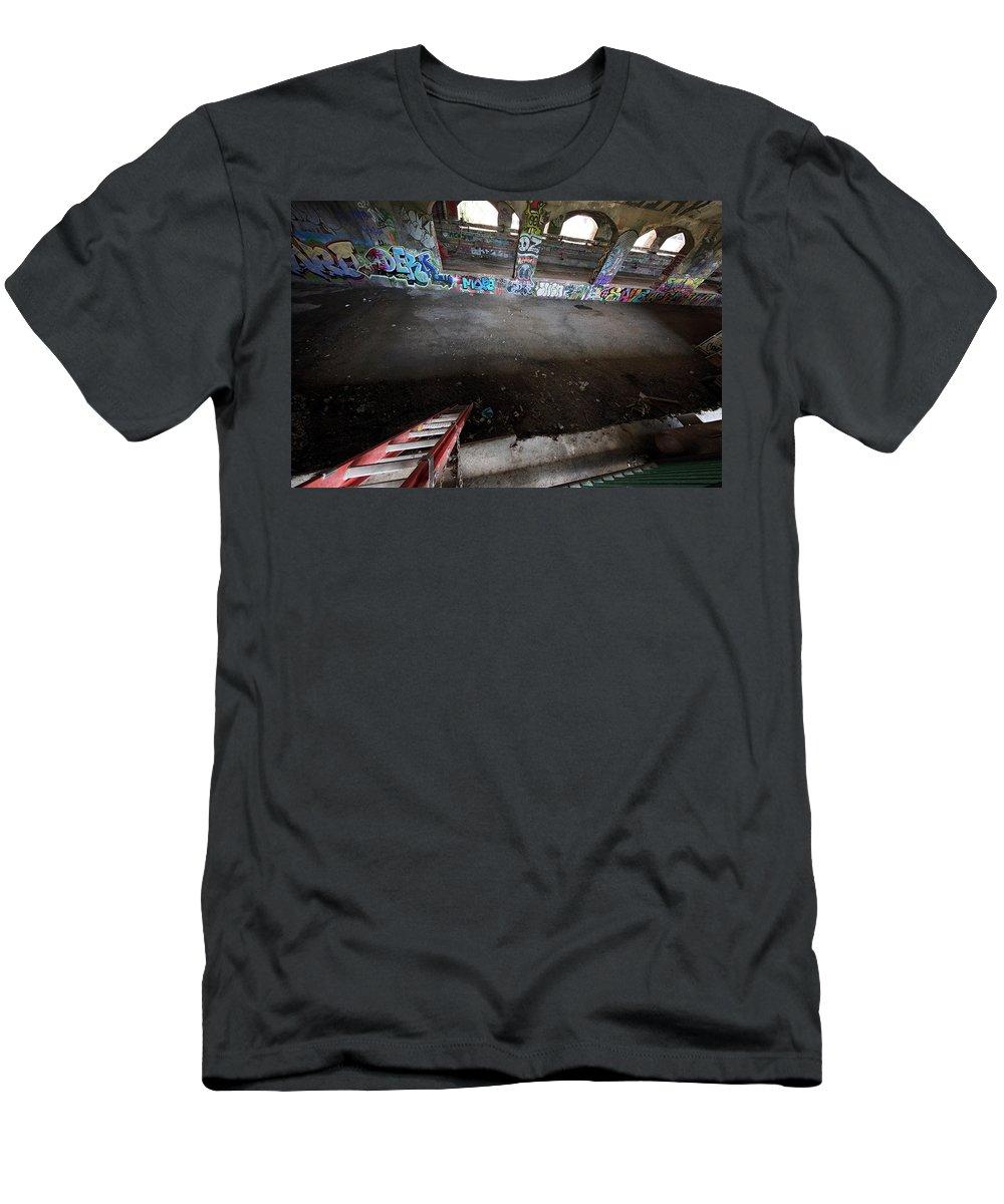 Subway Men's T-Shirt (Athletic Fit) featuring the photograph Down Under by Deborah Penland