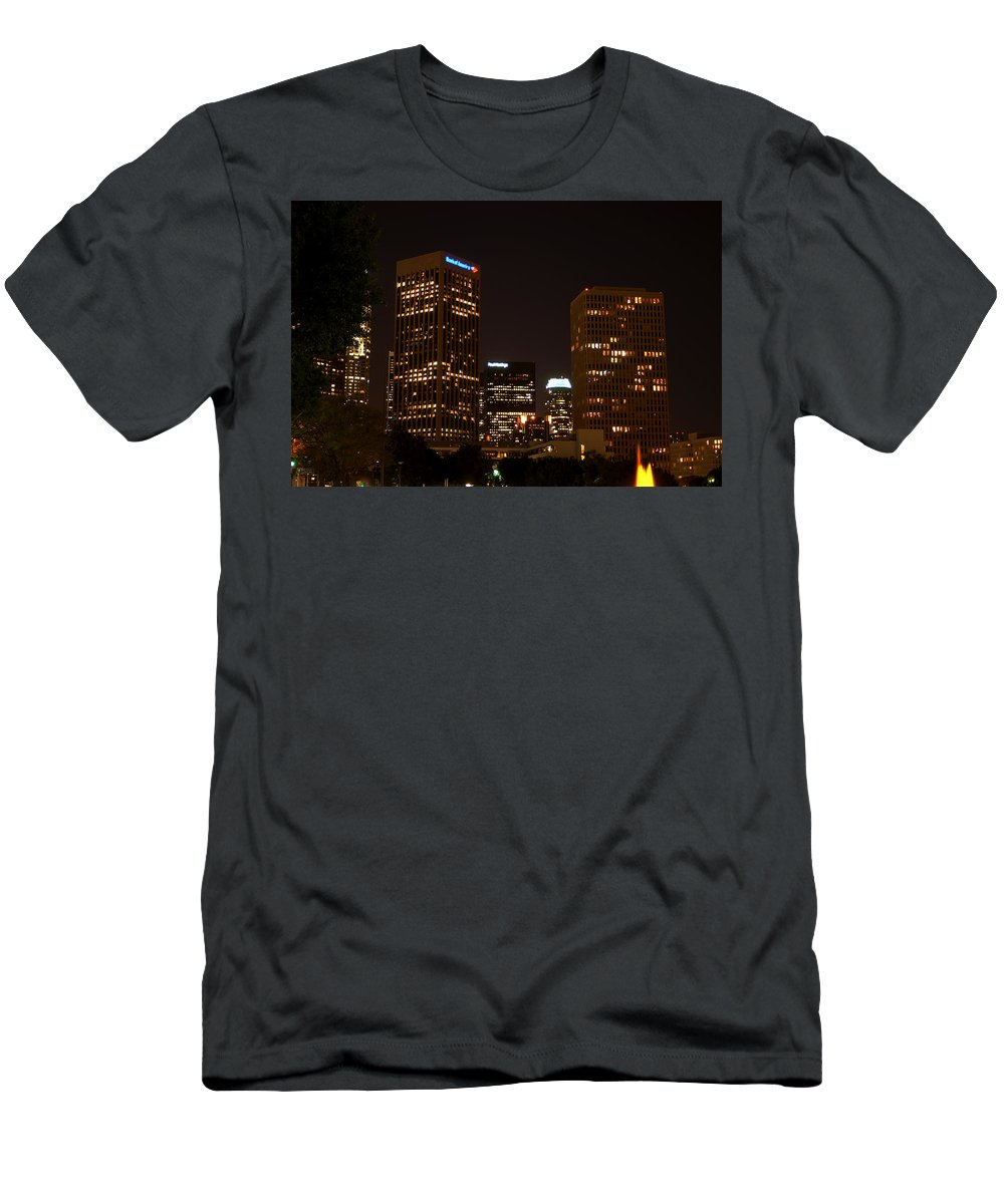 Clay Men's T-Shirt (Athletic Fit) featuring the photograph Downtown L.a. In Hdr by Clayton Bruster