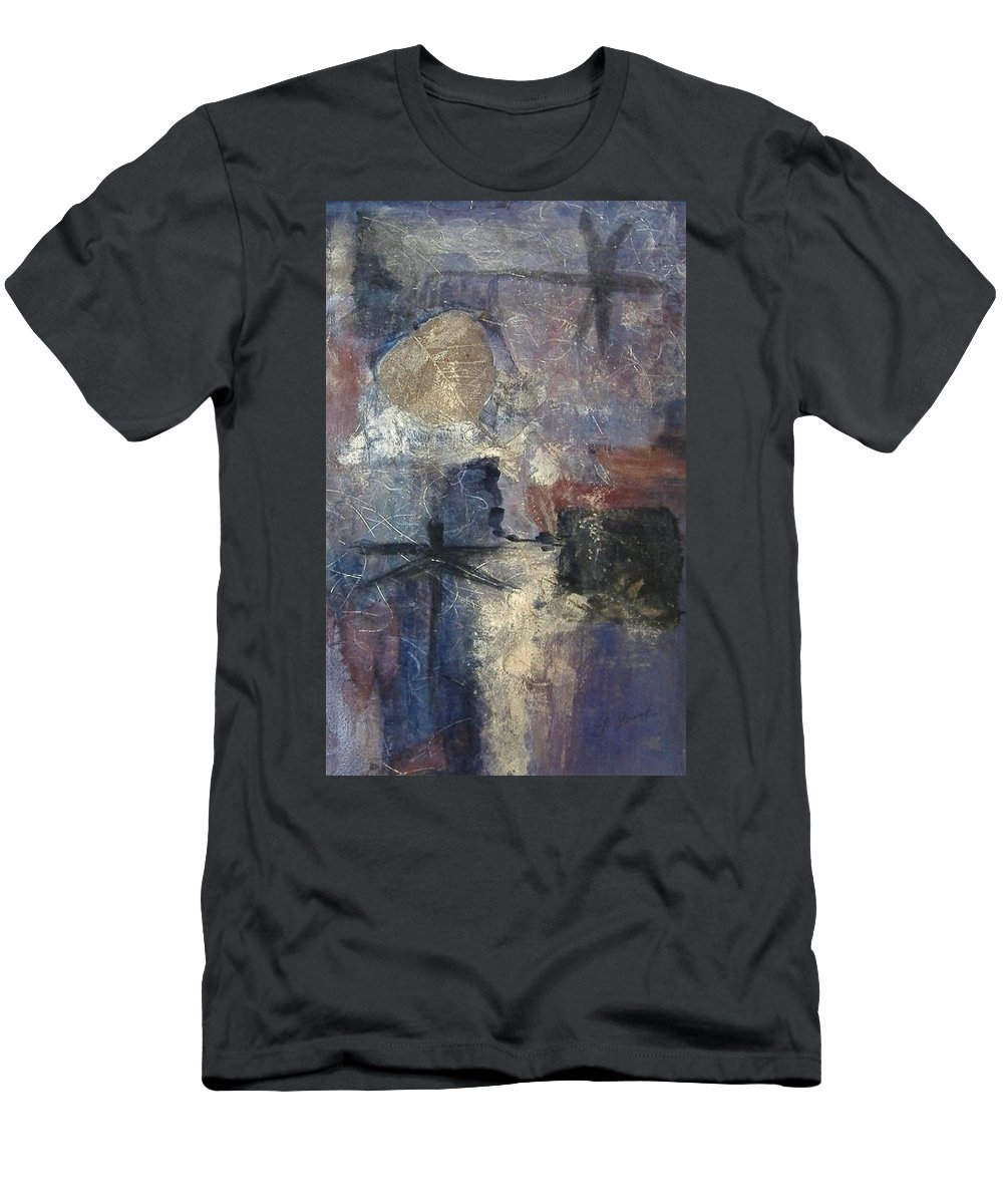 Collage Men's T-Shirt (Athletic Fit) featuring the mixed media Dragonflies by Pat Snook