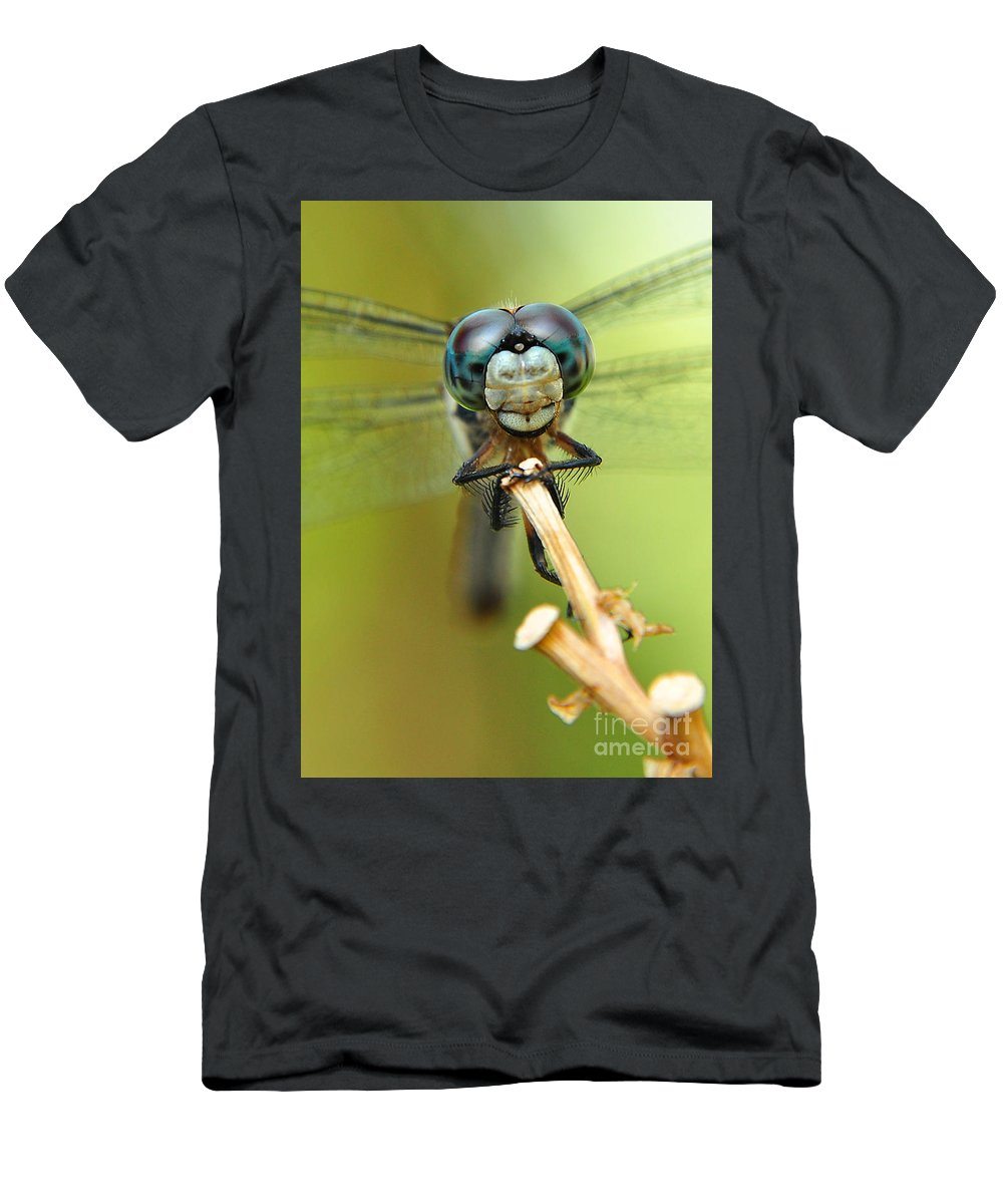 Nature Men's T-Shirt (Athletic Fit) featuring the photograph Dragonfly by Susan Cliett